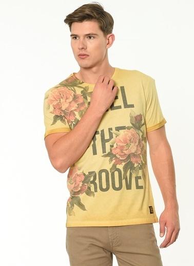 Lee Cooper Baskılı Tişört Sarı